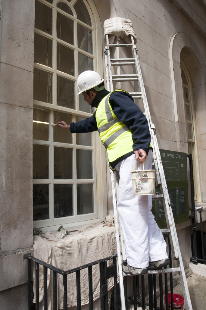 Lead-Based paints at the Old Royal Naval College, Greenwich. Courtesey of The Art of Decorating Ltd.